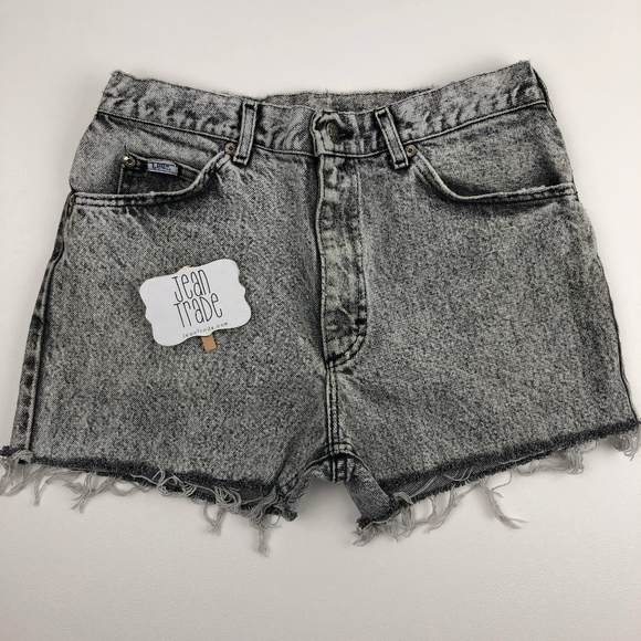 Lee Pants - Vintage High Waist Acid Wash Cut off Jean Shorts